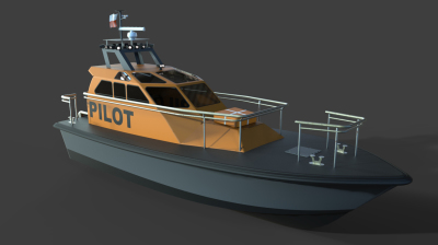 Pilot boat designed while in school.