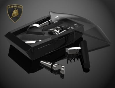 Lamborghini wine set.