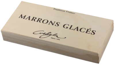 8PC Marron Glaces in Wooden Box