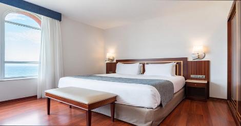 Bedroom In Hotel Eurostars Ciudad de la Coruna In Galicia