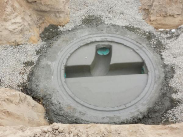 Manhole Base with 45 Lateral