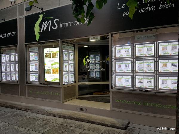 affichage dynamique agence immobilière