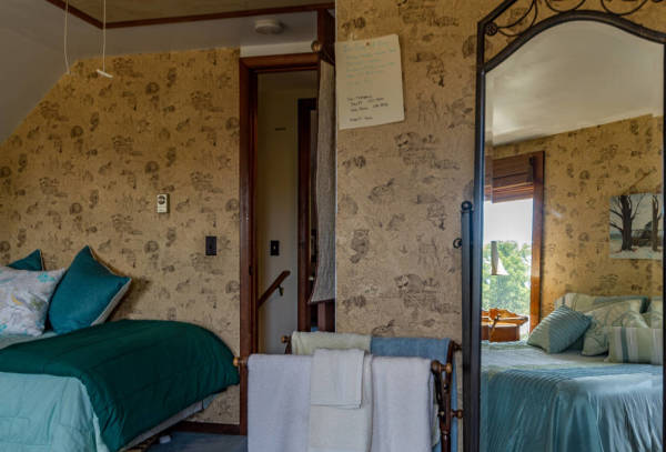 The front bedroom gives this Cayuga Lake B&B a unique view of the waters.