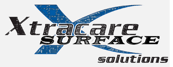 Xtracare surface solutions logo with a big blue x