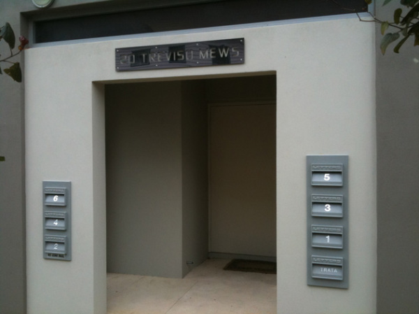 stainless steel apartment signs