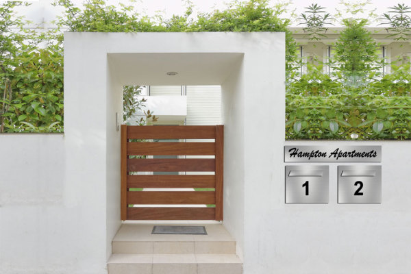 stainless letter box