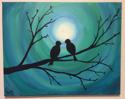 Moonlight Love Birds