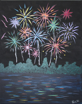 Fireworks Over Silver Lake