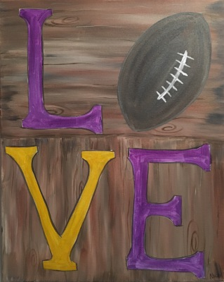 Rustic LOVE Football