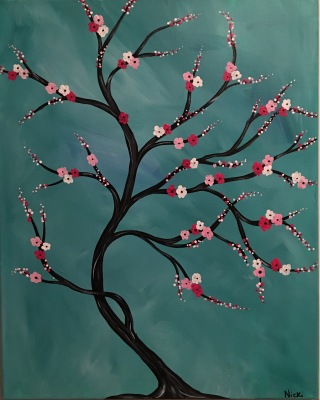 Whimsical Flowering Tree
