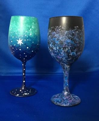 Galaxy Wine Glasses