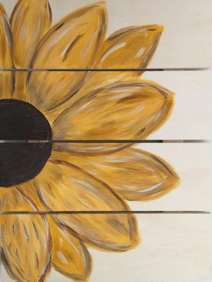 Sun Flower Wood Pallet