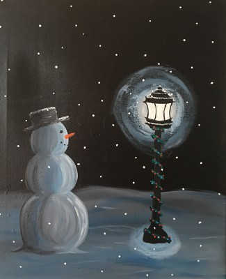 Midnight Snowman