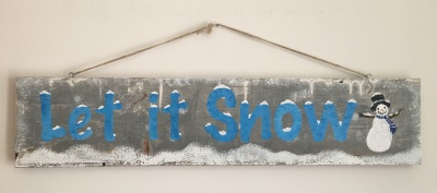 "Let it Snow - 24"" Wood Sign"