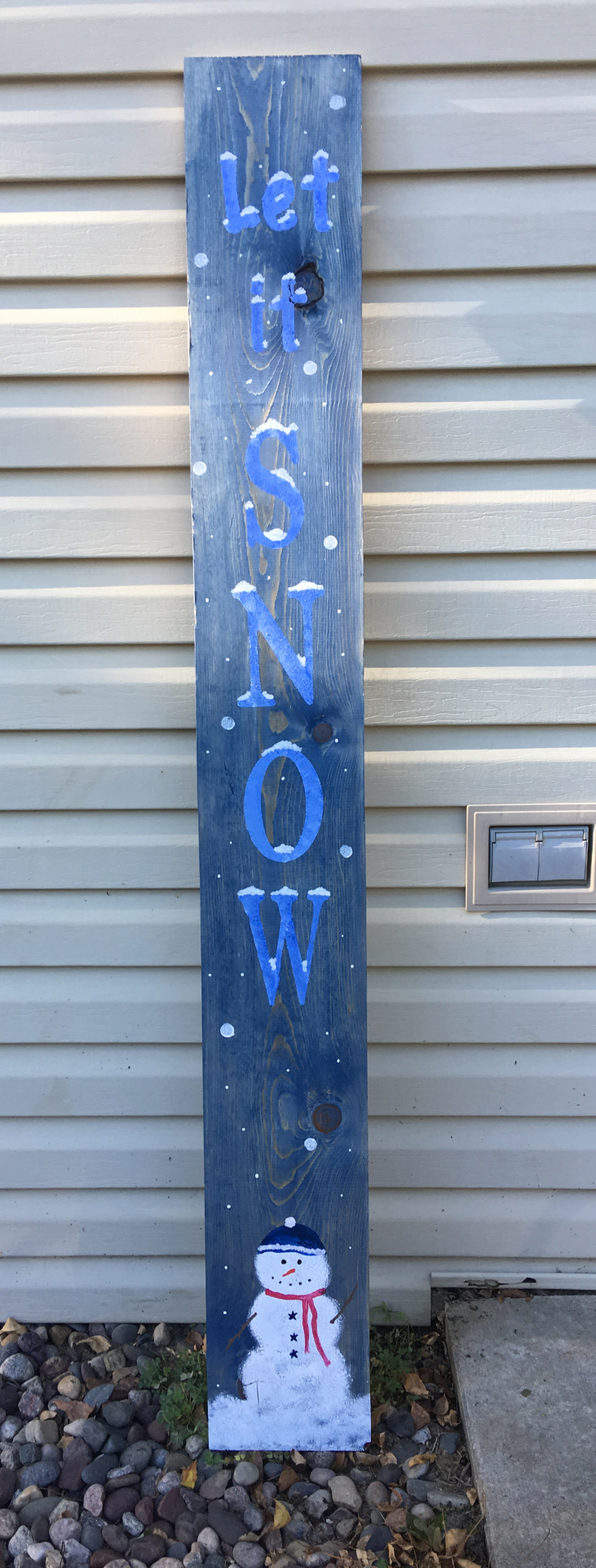 Let it Snow - 5ft Porch Sign