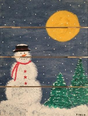 Snowman - Wood Pallet