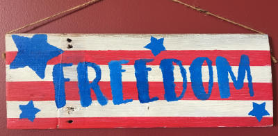 Freedom Barn Wood Sign