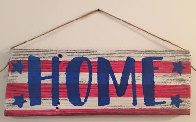 Home Barn Wood Sign
