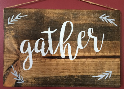 Gather 11x17 Wood