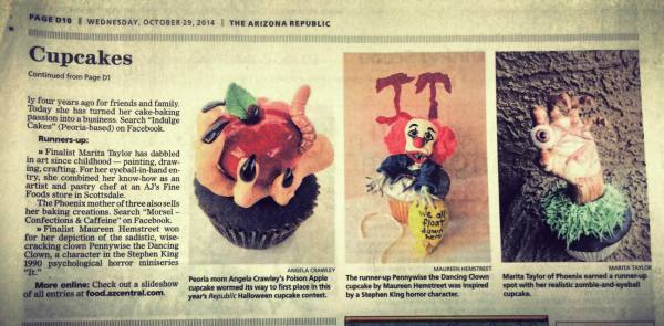 Top three of the Annual Cupcake Contest for the AZ Republic