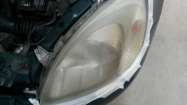 Before Headlight Restoration