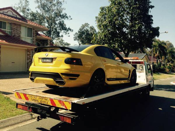 Yello Transformers Bumble bee Holden Commodore VE SS Clubsport 2009 Auto - GDM Ipswich towing services, cheap reliable towing, tilt tray tow truck, Flat bed towing, Wrecking, wreckers, Scrap