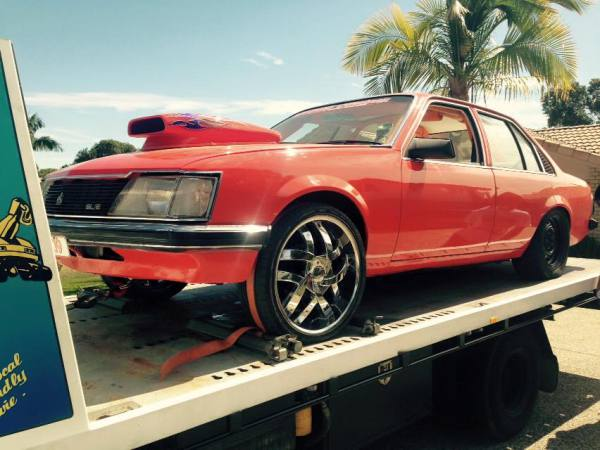 Holden commodore VH SLE 1981 auto 355 Stroker Orange HYP09 GDM  Ipswich towing services, cheap reliable towing, tilt tray tow truck, Flat bed towing, Wrecking, wreckers, Scrap