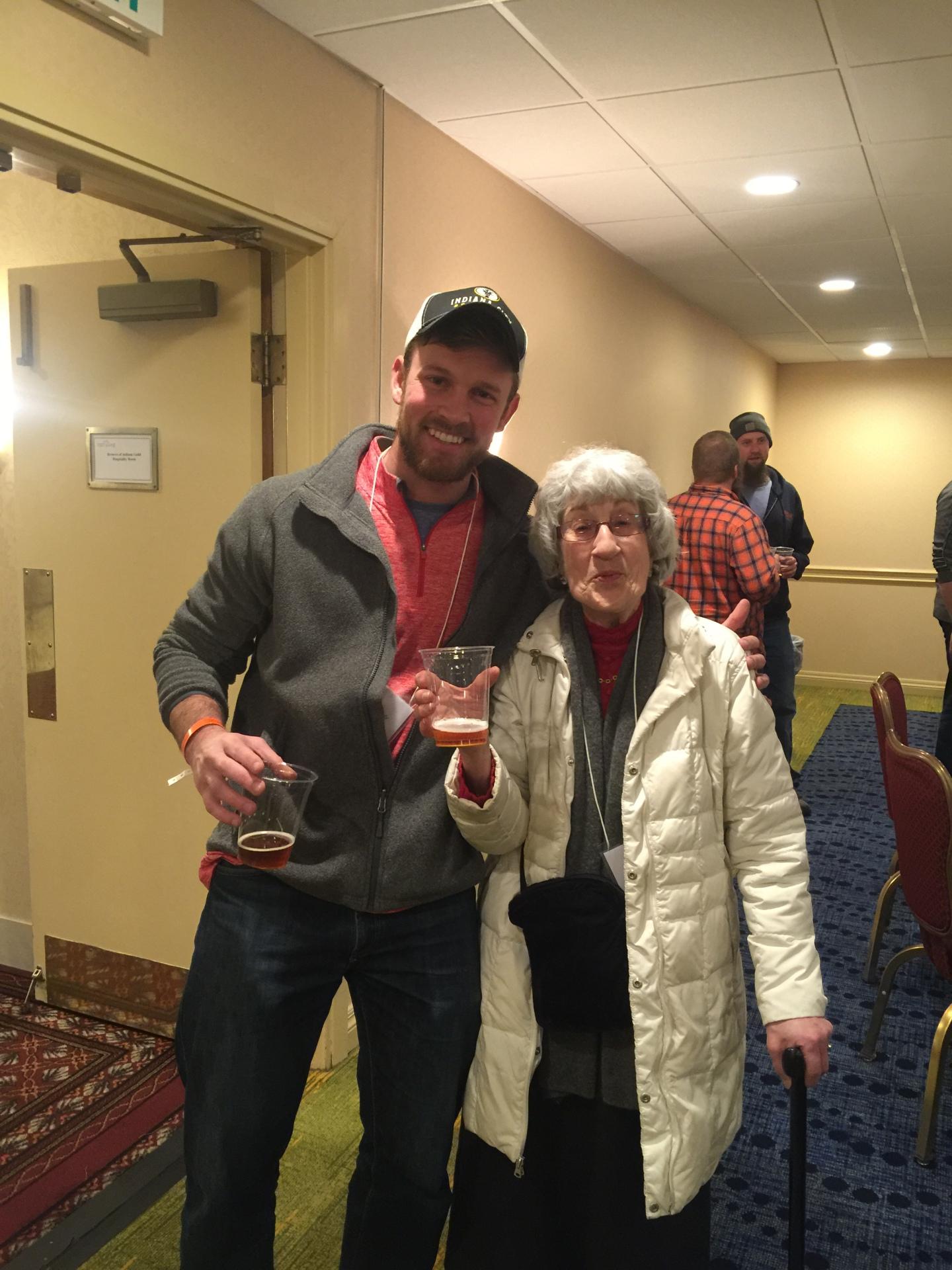 James hanging with Rita Kohn from Nuvo