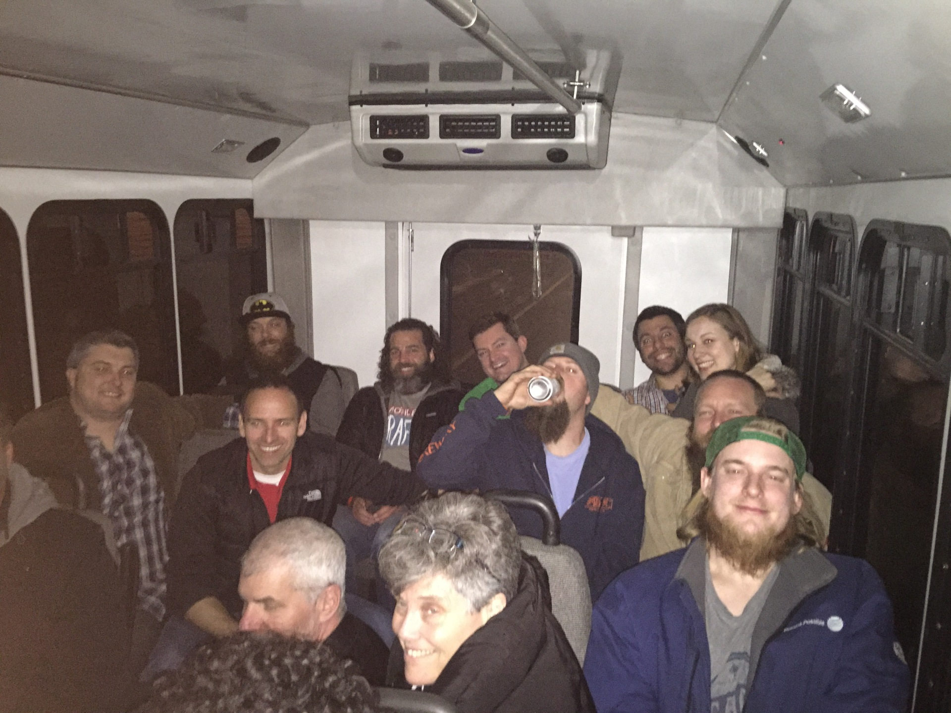 Bus ride back from Mad Anthony Brewing