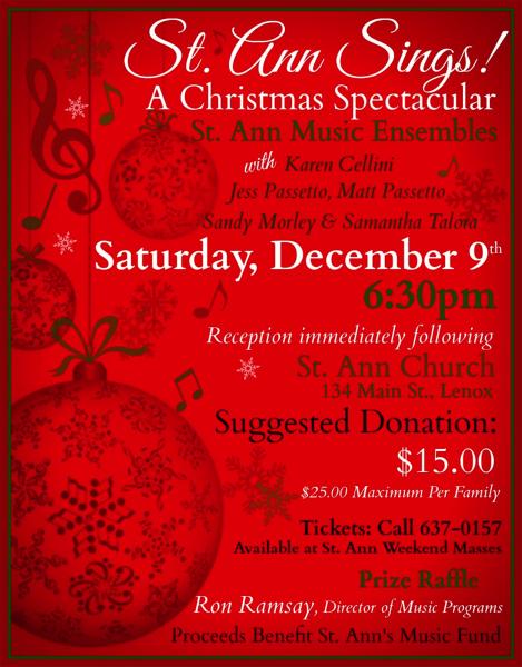 Saturday, December 9th - 6:30pm