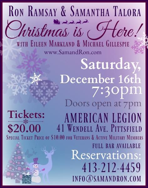 Saturday, December 16th - 7:30pm
