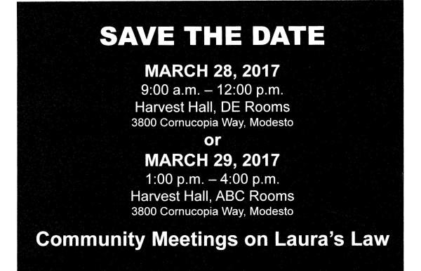 Laura's Law Workshop Open To Public.