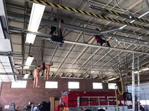 SCFPD Continues Training For High Angle Rescue.