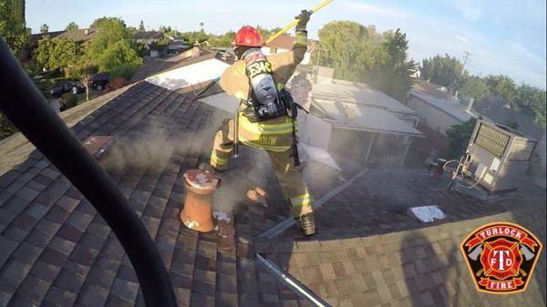 Fire Injures Turlock Resident.