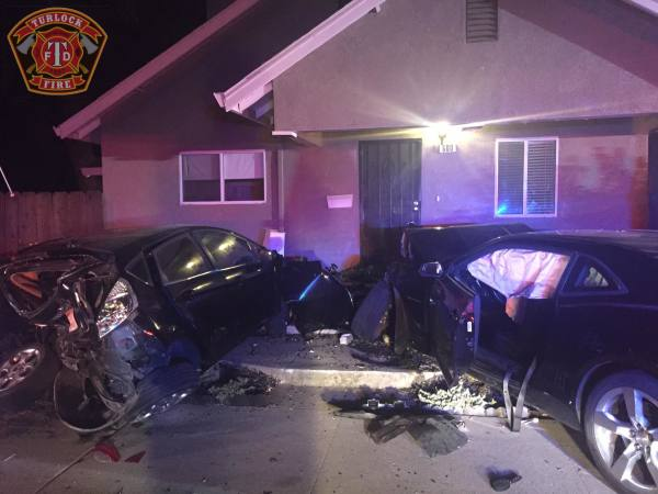 Vehicle Versus House Collision.