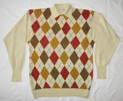 Printed knitwear: argyle pattern digitally printed onto cashmere knitwear using reactive inks by faering ltd