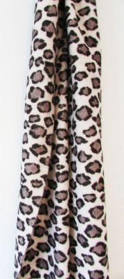 leopard print on cashmere scarf digitally printed by faering ltd