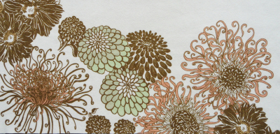 intricate flower design digitally printed on woven wool by faering ltd