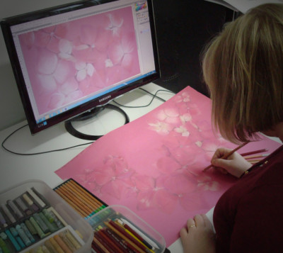 Optimising hand print design for digital textile printing
