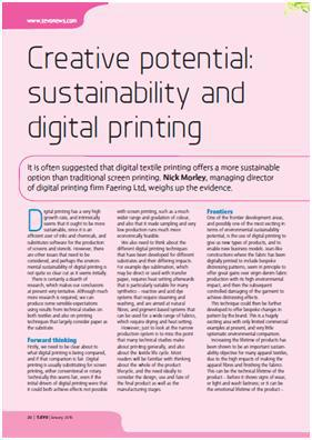 sustainability and digital textile printing