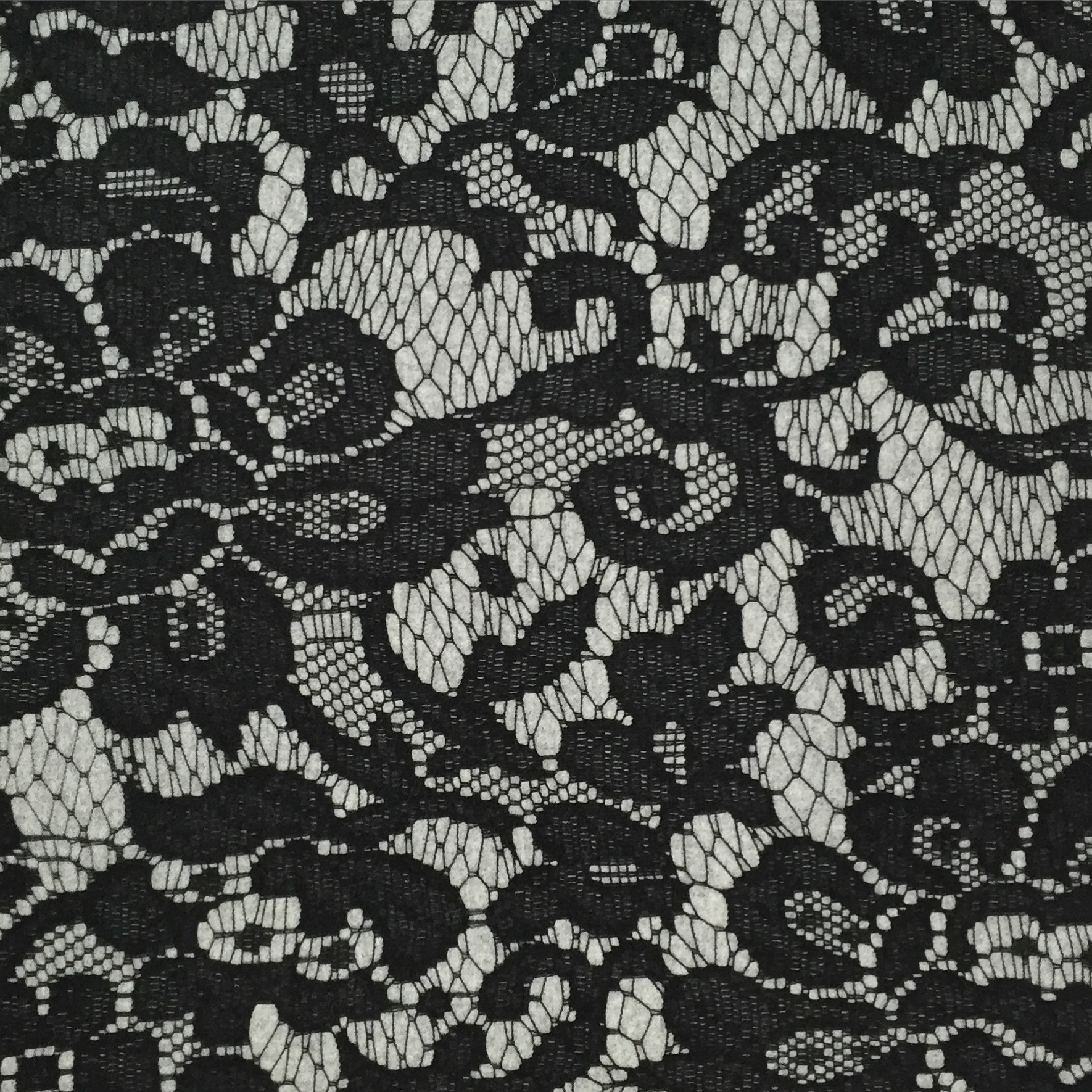faering ltd digital print melton wool woven lace design