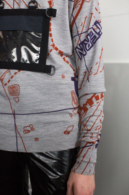 Printed knitwear: london collections men faering digital print lou dalton john smedley knitwear sweater