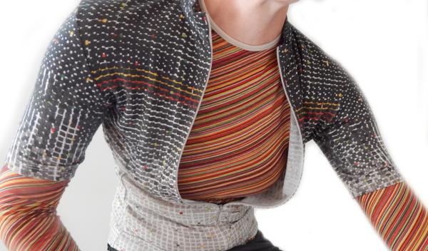 Faering printed knitwear merino cycling base layer sarah buck deronde