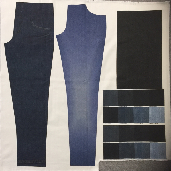 Faering digital printing denim sustainability printed denim