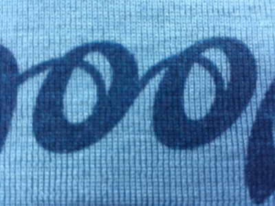printed knitwear printed lettering on knitted cashmere printed with reactive inks by faering ltd