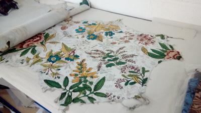 botanical design digital print faering ltd melton wool