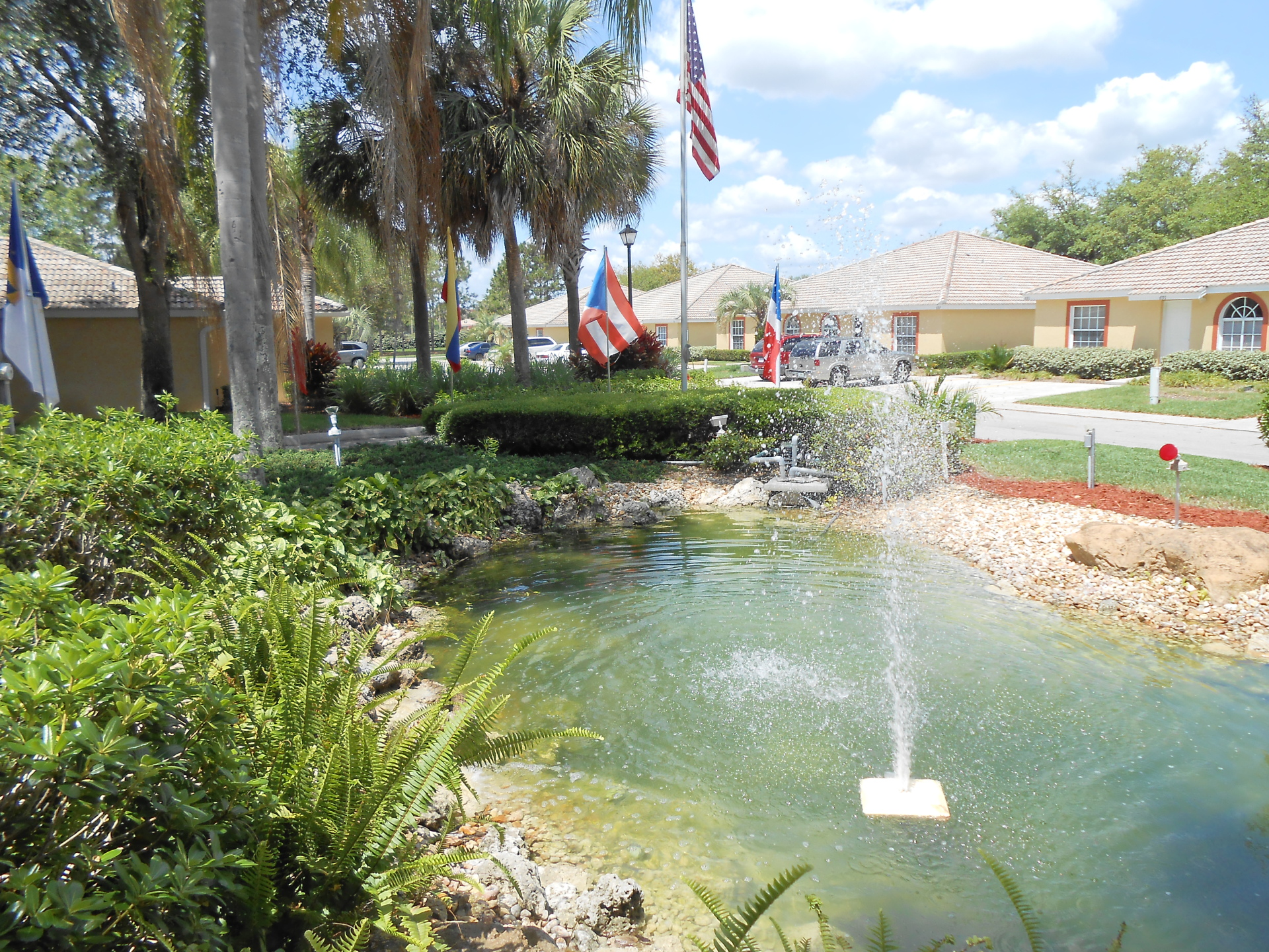 Clubhouse fountain / landscaping