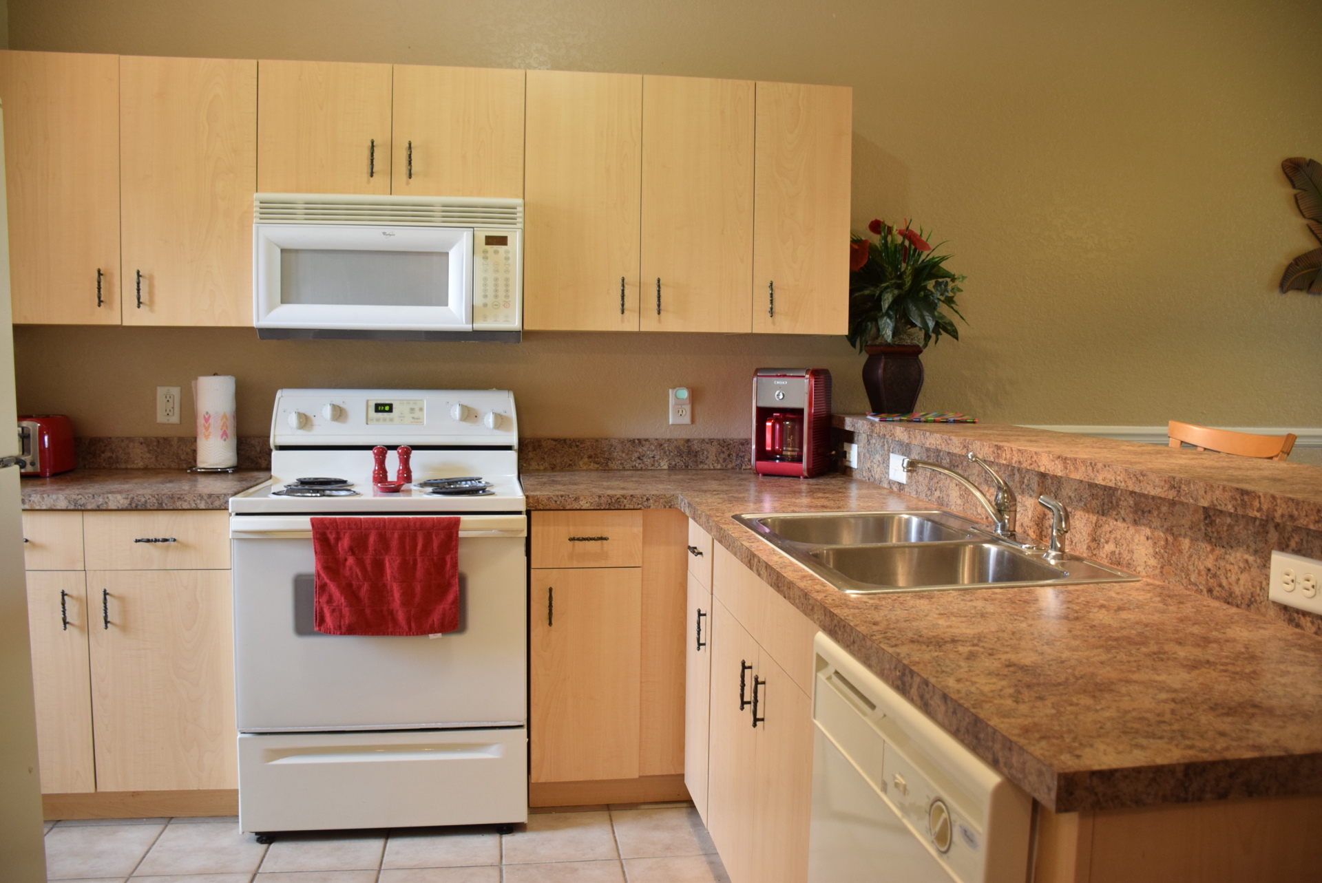 Kitchen with all new cooking ware