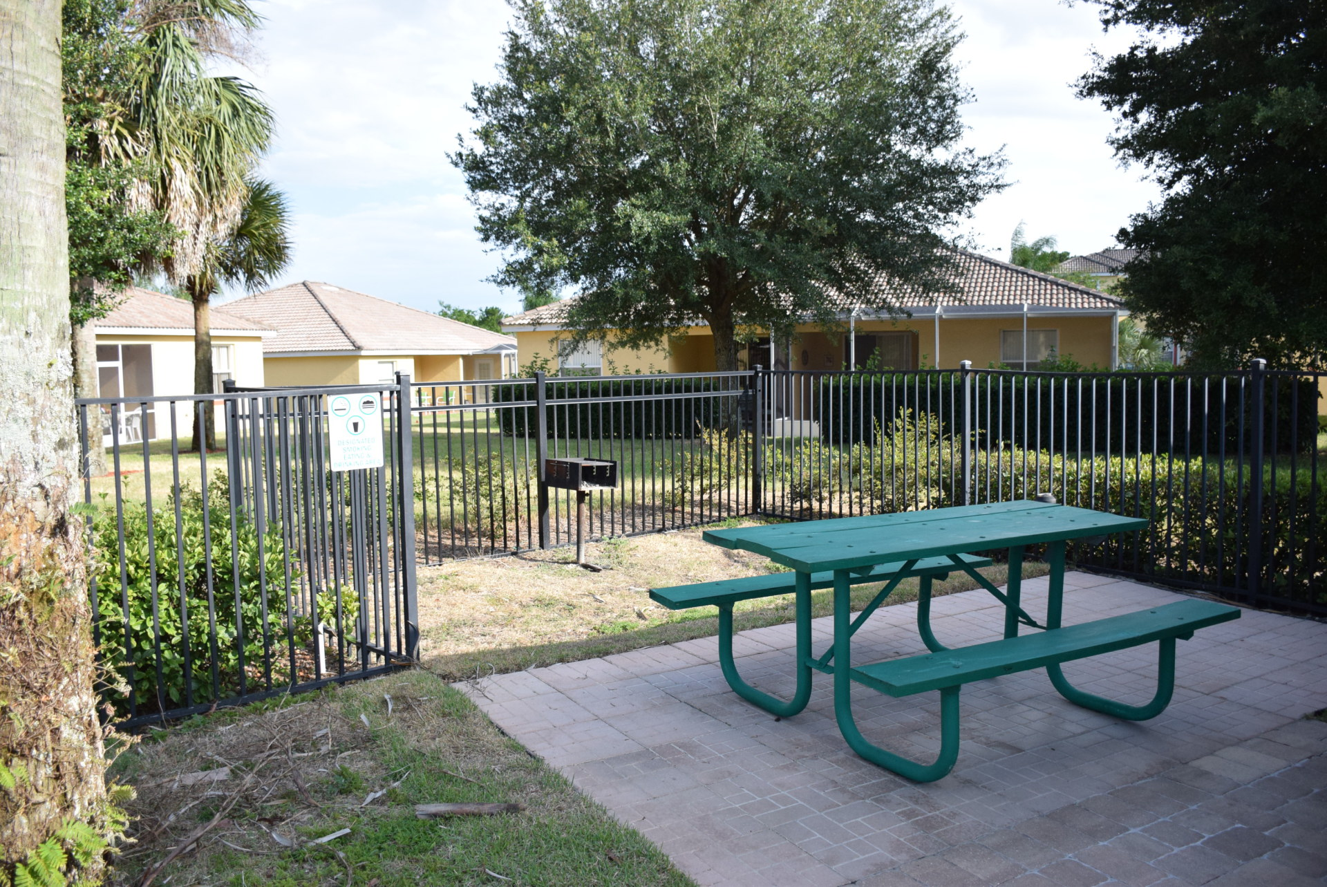 Picnic area at second pool