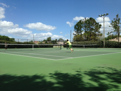 2 Tennis Courts and a Basket Ball Court